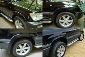 Toyota Land Cruiser 1998-2007 - Расширители колесных арок, к-т 4 шт (EGR) фото, цена