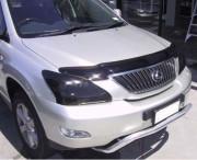 Lexus RX 2003-2008 - Дефлектор капота (мухобойка), темный (SIM) фото, цена