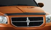 Dodge Caliber 2007-2012 - Дефлектор капота (мухобойка) темный ( VIP Tuning) фото, цена