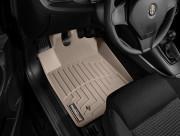 Alfa Romeo Giulietta 2011-2016 - Коврики резиновые с бортиком, передние, бежевые (WeatherTech) фото, цена
