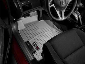 Honda Civic 2006-2011 - Коврики резиновые с бортиком, передние, серые (WeatherTech) фото, цена