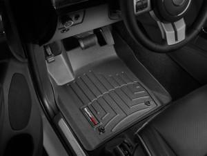 Jeep Grand Cherokee 2011-2012 - Коврики резиновые с бортиком, передние, черные (WeatherTech) фото, цена