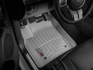 Jeep Grand Cherokee 2011-2012 - Коврики резиновые с бортиком, передние, серые (WeatherTech) фото, цена