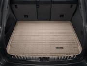 Porsche Cayenne 2011-2016 - Коврик резиновый в багажник(Без сабвуфера), бежевый (WeatherTech) фото, цена