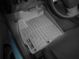 Mitsubishi Outlander 2007-2015 - Коврики резиновые с бортиком, передние, серые (МКПП). (WeatherTech) фото, цена