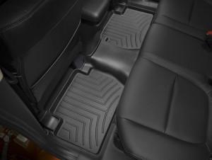 Mitsubishi Outlander 2007-2015 - Коврики резиновые с бортиком, задние, 2 ряд, черные (WeatherTech) фото, цена