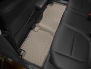 Mitsubishi Outlander 2007-2015 - Коврики резиновые с бортиком, задние, 2 ряд, бежевые (WeatherTech) фото, цена
