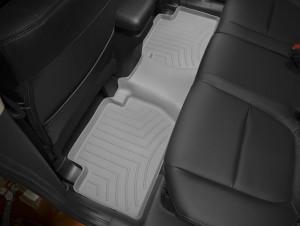 Mitsubishi Outlander 2007-2015 - Коврики резиновые с бортиком, задние, 2 ряд, серые (WeatherTech) фото, цена