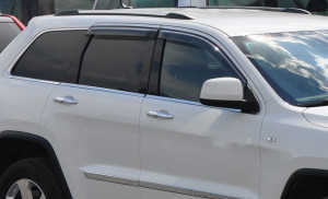 Jeep Grand Cherokee 2011-2012 - Дефлекторы окон (ветровики), к-т 4 шт, темные (EGR) фото, цена