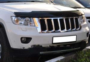 Jeep Grand Cherokee 2011-2012 - Дефлектор капота (мухобойка) темный (EGR) фото, цена