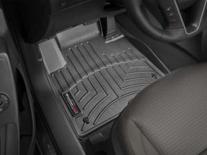 Hyundai Santa Fe 2011-2017 - Коврики резиновые с бортиком, передние, черные (WeatherTech) фото, цена