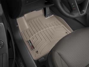 Hyundai Santa Fe 2011-2017 - Коврики резиновые с бортиком, передние, бежевые (WeatherTech) фото, цена