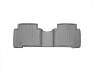 Hyundai Santa Fe 2011-2014 - Коврики резиновые с бортиком, задние, 2 ряд, серые (WeatherTech) фото, цена
