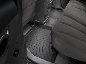 Hyundai Santa Fe 2006-2011 - Коврики резиновые с бортиком, задние ,черные. (WeatherTech) фото, цена