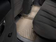 Hyundai Santa Fe 2006-2010 - Коврики резиновые с бортиком, задние ,бежевые (WeatherTech) фото, цена