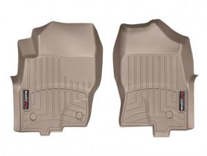 Nissan Navara 2010-2015 - Коврики резиновые с бортиком, передние, ,бежевые (WeatherTech) фото, цена