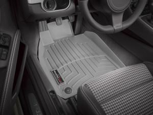 Porsche Cayman 2013-2014 - Коврики резиновые с бортиком,передние, серые (WeatherTech) фото, цена