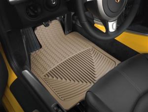 Porsche Cayman 2005-2012 - Коврики резиновые, передние, бежевые (WeatherTech) фото, цена