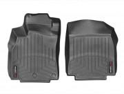 Renault Megane 2008-2014 - Коврики резиновые с бортиком,передние, черные (WeatherTech) фото, цена