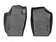 Seat Ibiza 2008-2014 - Коврики резиновые с бортиком,передние, черные (WeatherTech) фото, цена