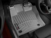 Seat Leon 2013-2014 - Коврики резиновые с бортиком,передние, серые (WeatherTech) фото, цена