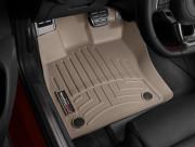 Seat Leon 2013-2014 - Коврики резиновые с бортиком,передние, бежевые (WeatherTech) фото, цена