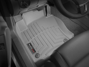 Skoda Octavia A5 2004-2012 - Коврики резиновые с бортиком, передние, серые (WeatherTech) фото, цена