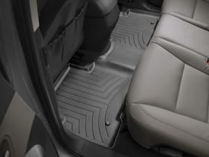 Hyundai Santa Fe 2011-2017 - Коврики резиновые с бортиком, задние, 2 ряд, черные (WeatherTech) фото, цена