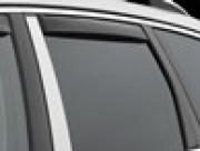 Porsche Cayenne 2010-2015 - Дефлекторы окон (ветровики), задние, темные (WeatherTech) вставные фото, цена