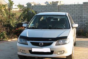 Mazda 323 2000-2003 - Дефлектор капота (мухобойка), VIP Tuning фото, цена