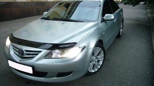 Mazda 6 2002-2008 - Дефлектор капота (мухобойка), VIP Tuning фото, цена