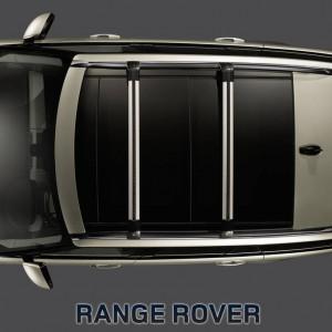 Land Rover Range Rover 2013-2015 - Рейлинги продольные, к-т 2 шт, черные (LR) фото, цена