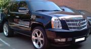 Cadillac Escalade 2007-2012 - Дефлектор капота (мухобойка), хромированный. (Cadillac) фото, цена