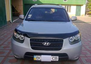 Hyundai Santa Fe 2007-2012 - Дефлектор капота (мухобойка) SIM фото, цена