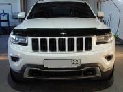 Jeep Grand Cherokee 2011-2015 - Дефлектор капота (мухобойка), темный. (SIM) фото, цена