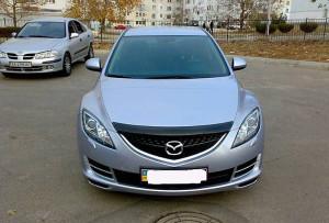 Mazda 6 2008-2012 - Дефлектор капота (мухобойка), темный. (SIM) фото, цена