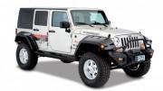 Jeep Wrangler 2007-2015 - Расширители колесных арок, к-т 4 шт (Bushwacker) фото, цена
