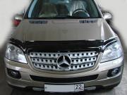 Mercedes-Benz ML 2006-2011 - Дефлектор капота (мухобойка), темный (SIM) фото, цена