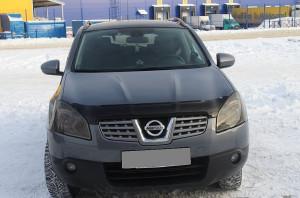 Nissan Qashqai 2007-2009 - Дефлектор капота (мухобойка), темный. (SIM) фото, цена