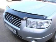 Subaru Forester 2005-2007 - Дефлектор капота (мухобойка), темный. (SIM) фото, цена