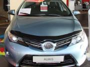 Toyota Auris 2012-2015 - Дефлектор капота (мухобойка), темный. (SIM) фото, цена