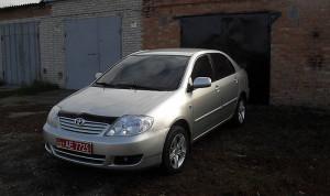 Toyota Corolla 2001-2005 - Дефлектор капота (мухобойка), темный. SIM фото, цена