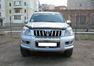 Toyota Land Cruiser Prado 2003-2008 - Дефлектор капота (мухобойка), темный. (SIM) фото, цена