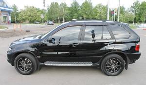 BMW X5 2000-2006 - Дефлекторы окон (ветровики), к-т 4 шт, темные. SIM фото, цена