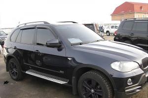 BMW X5 2007-2012 - Дефлекторы окон (ветровики), к-т 4 шт, темные. SIM фото, цена