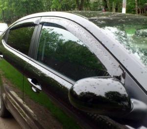 Chevrolet Lacetti 2004-2012 - Дефлекторы окон (ветровики), к-т 4 шт, темные (Sed). SIM фото, цена