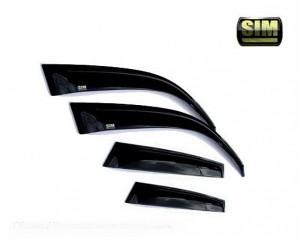 Daewoo Nexia 1996-2015 - Дефлекторы окон (ветровики), к-т 4 шт, темные. SIM фото, цена