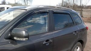 Hyundai Santa Fe 2006-2011 - Дефлекторы окон (ветровики), к-т 4 шт, темные. SIM фото, цена