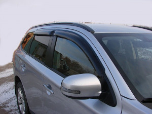 Mitsubishi Outlander 2012-2015 - Дефлекторы окон (ветровики), к-т 4 шт, темные. SIM фото, цена