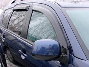 Mitsubishi Outlander 2007-2012 - Дефлекторы окон (ветровики), к-т 4 шт, темные. SIM фото, цена